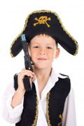 Boy Pirate with Gun