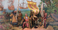 Columbus Landing in New World