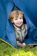 Young Boy-Tent